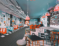 Route 99 - Retro Vintange cafe design - New Cairo/Mall