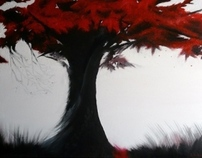 Painting | Red tree
