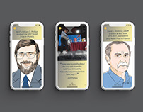 Instagram story panels: NIST and the Nobel