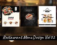 Restaurant Menu Design Collection Vol 2