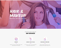 Beauty Salon - Landing Page