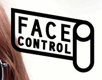 """Face Control"" logo and layout  of magazine"