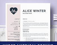 Nurse resume template - RN Nurse template | Medical CV