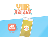 Yur Party Mobile Application / UI and Logo Design