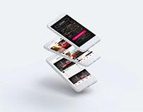 Car App UI Free PSD Download
