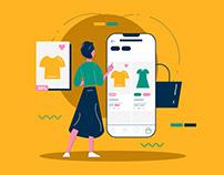 Internet Shopping Illustration