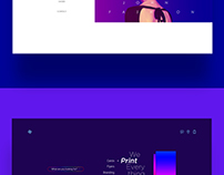 Minimal landing page web design bundle