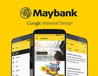 Maybank App - Material Design