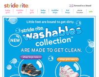 Stride Rite HTML Email