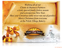 "Brand: Polish Village Bakery Project: ""Merry Christmas"""