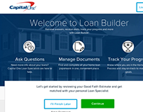 Capital One LoanBuilder Responsive, AngularJS Front End