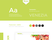 Venezia - Pizza & Burger shop website landing page.