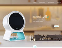 Homepage concept for Pillo health robot