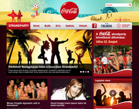Coca-Cola Strandparty design concept