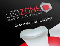 LED ZONE branding identity