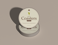 Free Stack of Coasters Mockup