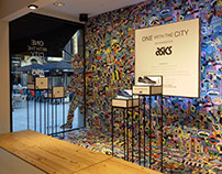 Escaparates Asics - One with the city, en Barcelona