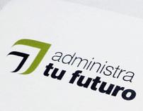 administra tu futuro business stationery