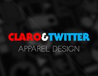 Claro & Twitter - T Shirt Design