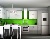 Modern Kitchen 3D Visualization