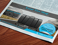 Tire shop Newspaper advertisement