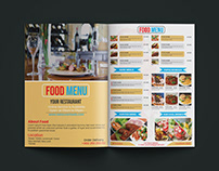 Food Menu Two page Flyer