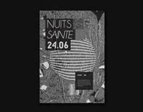 NUITS SAINTE ⏤ Poster Design