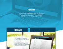 Web comercial de software de creación de Formularios