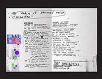 Thesis Journal (2015–16)