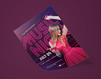 Free Music Night Flyer in PSD