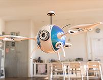 Prototipo de Drone de tres hélices - Modelo 3D