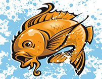 """Vektor Illustration """"Goldfish"""""""