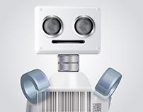 Robot Vector. Adobe Illustrator