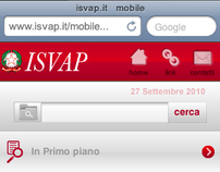 Isvap mobile website - 2011