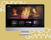 London Grammar Web Design