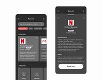Job search app (dark mode)