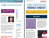 IABC Weekly Digest Email Newsletter Redesign