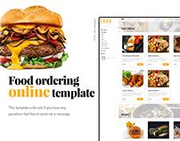 Food Ordering Online Template