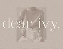 dear ivy, fashion modern serif