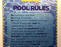 SafeSplash Swim School Pool Rules