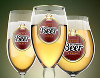 Beer Glasses Logo Mock-up