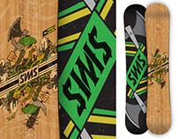 2012-2013 Sims Rules! Ambigram Snowboard
