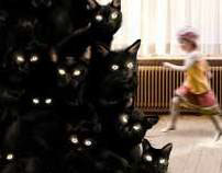 Cats tree - Christmas card