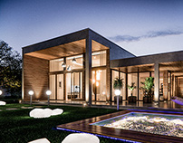 3D Visualization for a modern house
