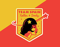Team Spain Roller Derby Logo