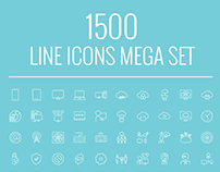 1500 vector line icon pack.