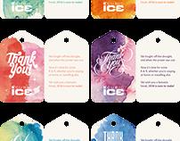 Company christmas tag design