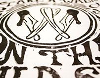 Hey Babe | Linoleum Typography Illustration