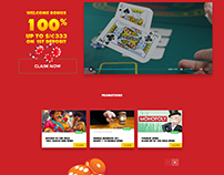 Casino web landing interface design