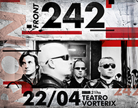 Diseño Grafico | Front 242 en el Teatro Vorterix